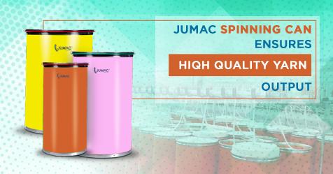 Jumac Spinning Cans Ensure High-Quality Yarn Output